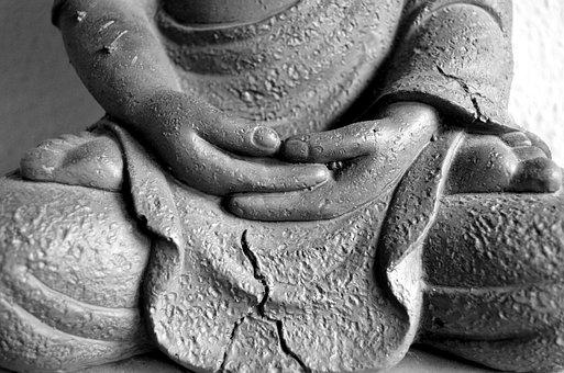 Buddha, Hands, Statue, Bust, Sculpture, Buddhism, Fig