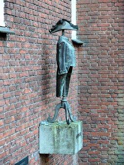 Statue, Brass, Clothes, Hertogenbosch, Netherlands, Hat