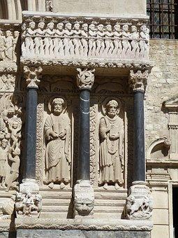 Arles, Cathedral, Facade, France, Historic Center