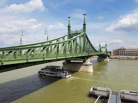 Liberty Bridge, Budapest, Hungary, Danube