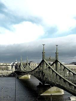Hungary, Budapest, Danube, Bridge, Liberty Bridge