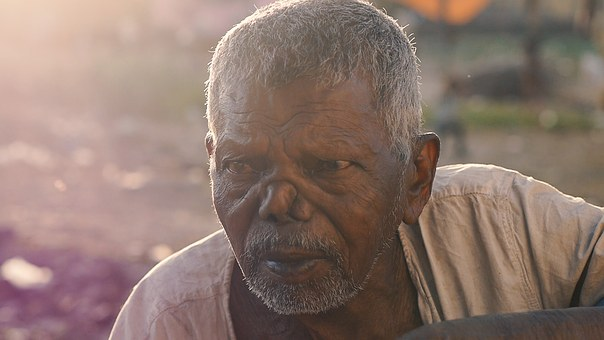 India, Leprosy, Beggars, Allabad, Poor People, Old Man