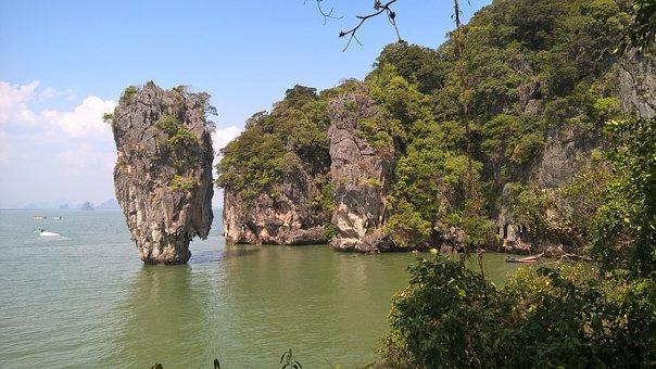 James Bond, Thailand, Volcanic, Phuket, Seascape, Cliff