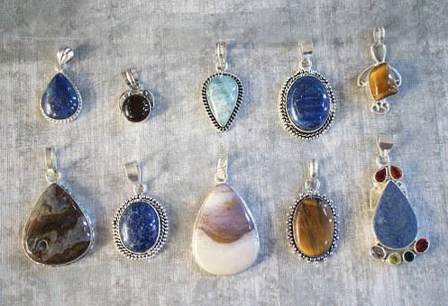 Gemstone, Pendants, Gem, Stone, Jewelry, Lot, Bunch