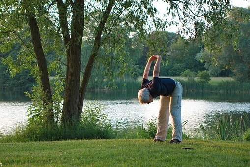 Yoga, Exercise, Sport, Fitness, Wellness, Lake, Evening
