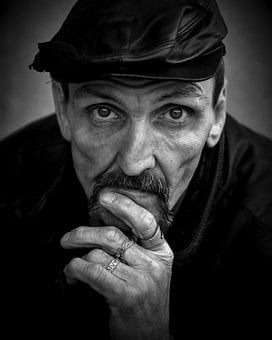 Homeless, Male, B W, Person, People, Man, Issue