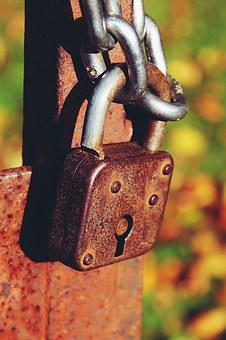 Castle, Padlock, Chain, Metal, Fence, Stainless