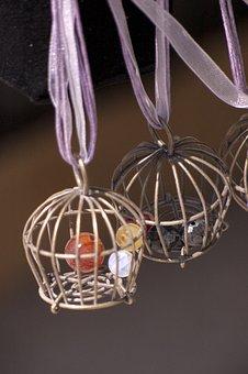 Cage, Stone, Metal, Rusty, Metallic, Wire, Handmade