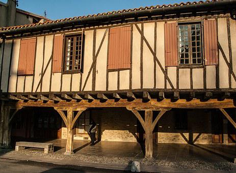 France, Mirepoix, Arcades, Timbered House