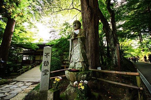 Mysterious, Buddha Statue, Mountain, Japan, Natural