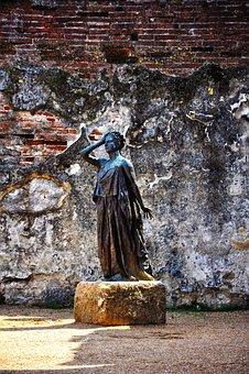 Sculpture, Art, Merida, Statue, Monument, Muse, Myth