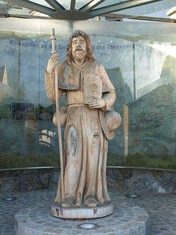 Neustadtl, Hl Jakobus, Donau, Statue, Saint, James