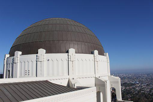 Griffith Observatory, Dome, Sky, Smog, Observatory