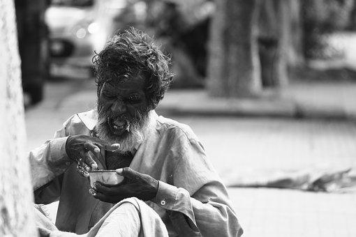 Old, Poor, Indian, Homeless, Poverty, People, Beggar