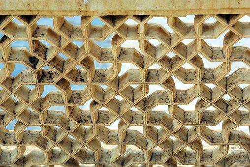 India, Amber, Palace, Ceiling, Decoration, Openwork
