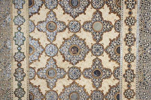 Amber Fort, Palace Of Mirrors, Mosaic, Rajasthan