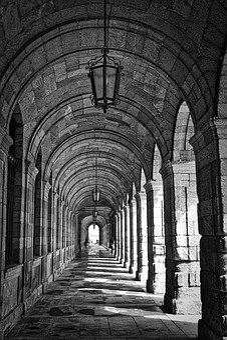 Corridor, Arcade, Arches, Passage, Perspective