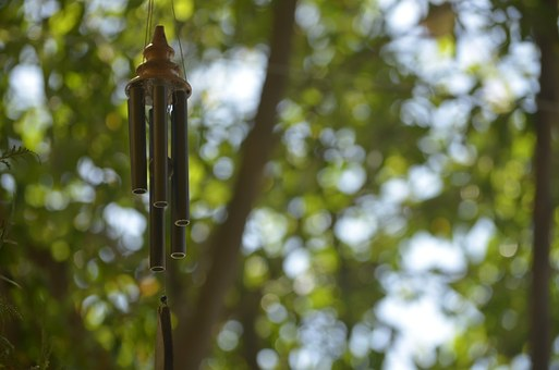 Wind Chimes, Pendant, Asian Bell, Flying, Blur