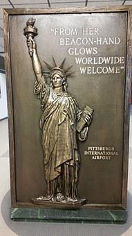 Pittsburgh, Airport, Pennsylvania, Usa, Welcome Board