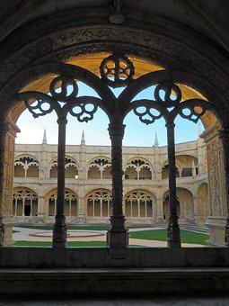 Portugal, Lisbon, Monastery, Hieronymite, Arcades