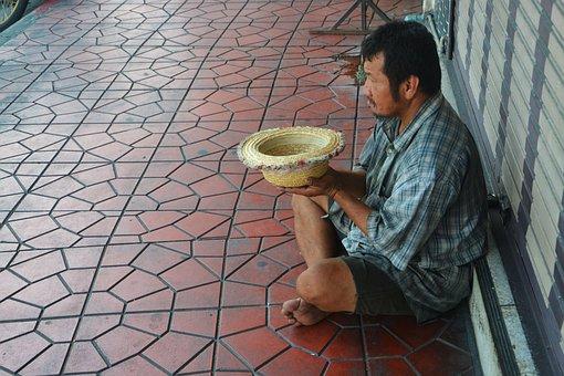 Beggar, Begging, Street, Sitting, Man, Poverty