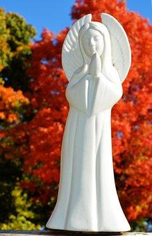Angel Statue, Graveyard, Religion, Religious, Cemetery