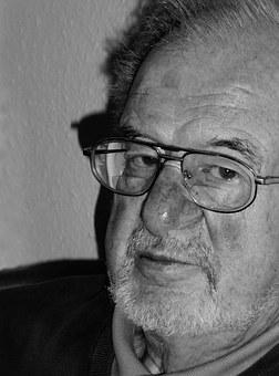 Old Man, Grandpa, Retirement, Black And White, Portrait