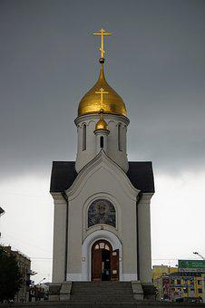 Church, Russia, Golden, Dome, Orthodox