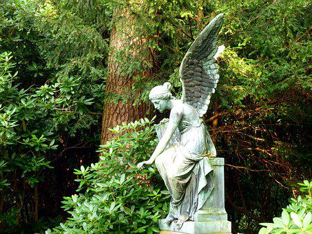 Angel, Sculpture, Figure, Cemetery, Angel Figure