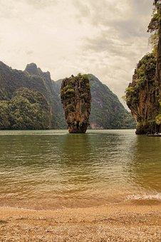 Thailand, Sea, Water, Vacations, Nature, Rock, Idyllic
