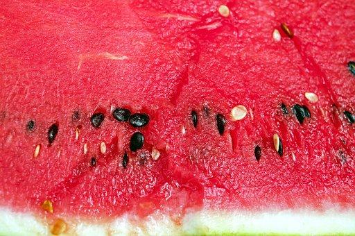 Melon, Watermelon, Fruit, Red, Juicy, Cores, Section