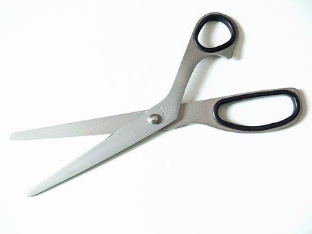 Scissors, Household Scissors, Sharp, Cut, Section