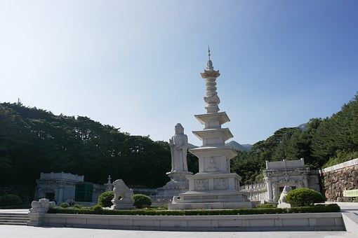 South Korea Section, Section, Stone Tower, Buddhism