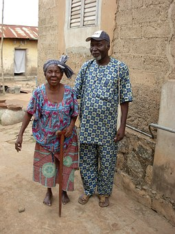 Senior Citizens, Seniors, Africa, A Married Couple