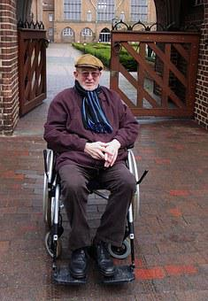 Old Man, Senior, Wheelchair, Past, Time