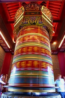 Singapore, Budha Tooth Relic Temple, Wheel Of Fortune