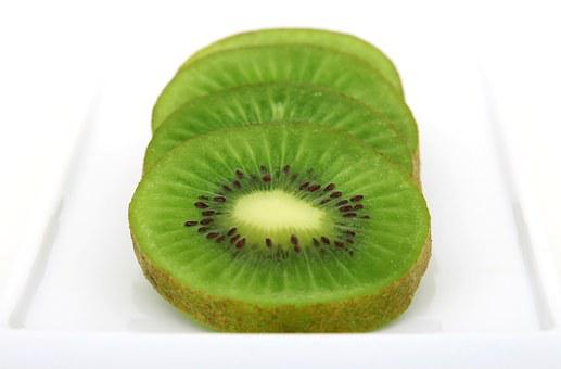 Kiwi, Sliced, Background, Bitter, Breakfast, Bright, C