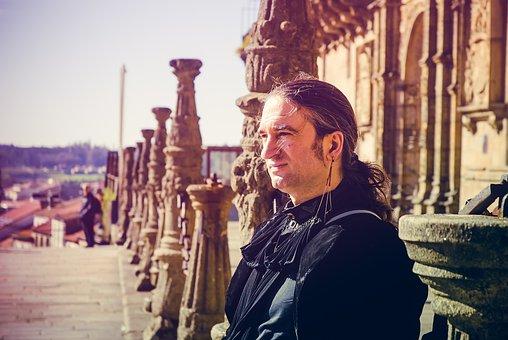 Saint James Compostela, Spain, Man, Gothic, Columns