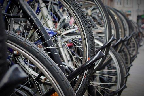 Bicycle Tires, Mature, Hose, Stand, Rim, Bike
