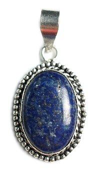 Lapis, Stone, Pendant, Gemstones, Gems, Handmade