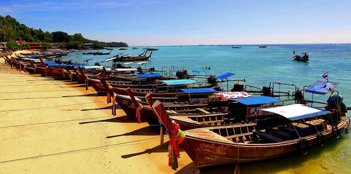 Koh Phi Phi, Long Tail Boats, Thailand, Tours, Fishing