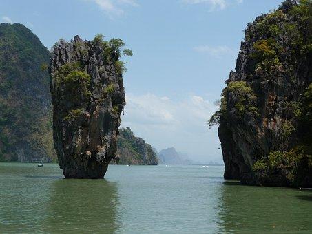 Thailand, Sea, Landscape, James Bond, Travel, Tourism