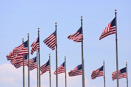 American Flag, Us, Flag, American, Red, Blue, White