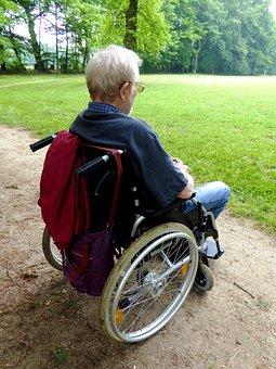 Old Man, Senior, Wheelchair, Person, Grandpa
