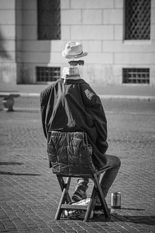 Piazza Navona, Rome, Italy, Mime, Street, People, Work