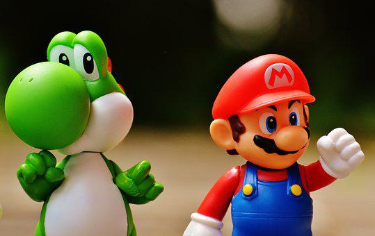Mario, Yoschi, Figures, Funny, Colorful, Cute, Children