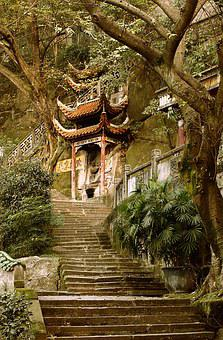 Lama, Temple, Religion, China, Steps, Chinese, Ancient