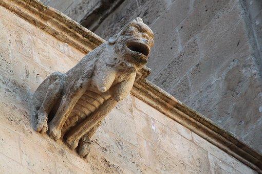 Gargoyle, Architecture, Sculpture, Stone Sculpture