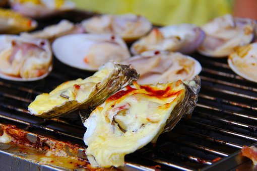 Oyster, Bbq, Grilled, Barbecued Oysters, Yummy