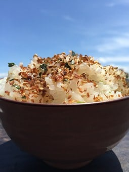 Sprinkle Rice, Blue Sky, Teacup, Hood